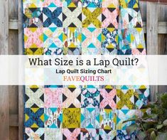 Lap quilts generally smaller than a throw quilt and come in all shapes and sizes. Check out our lap quilt size charts. Throw Quilt Size, Lap Quilt Size, Lap Quilts, Quilt Sizes, Scrappy Quilts, Quilting Projects, Sewing Projects, Sewing Ideas, Sewing Tips