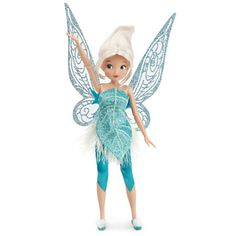 Frost your way to Winter with this classic Periwinkle doll, from Disney Fairies: Secret of the Wings. Periwinkle is Tinker Bell's long lost sister.