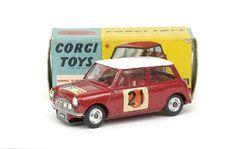 "Mettoy Corgi diecast No.333 BMC Mini Cooper S ""RAC"" International Rally"" 1966"
