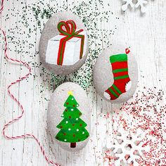 Create this project with Americana® Multi-Surface Acrylics — Bring the painted rock craze into your holidays with Americana® Multi-Surface Acrylics.
