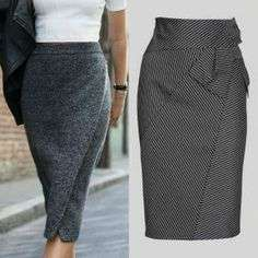Skirt - the cut Skirt Outfits, Casual Outfits, Fashion Pants, Fashion Outfits, Best Wear, Blouse And Skirt, Weekend Wear, Fashion Sewing, Vintage Skirt