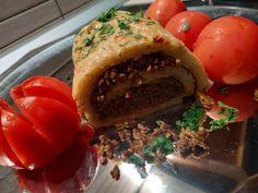 συνταγή για ρολά πατάτας με γέμιση κιμά Hamburger, Beef, Ethnic Recipes, Food, Meat, Essen, Burgers, Meals, Yemek