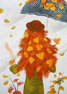 Доброе искусство: осень. Осенний арт. Осень в рисунках. - СЧАСТЬЕ ЕСТЬ! Психология. Философия. Мудрость. Книги.