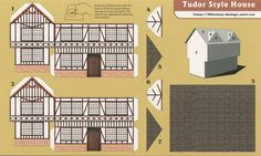Tudor Style House - Cut Out Postcard | Flickr: Intercambio de fotos