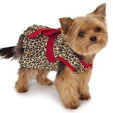 M Isaac Mizzahi  Leopard Collection Bow Dress For Dogs or Cats XXS OR S NWT #MIsaacMizrahi