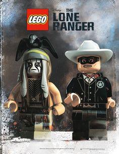 The Lone Ranger - Lego poster
