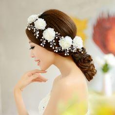 Невесты свадьба волос аксессуары цветок вышивка бисером клипы украшение 6 шт. купить на AliExpress