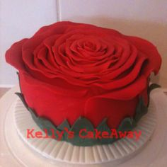 Red rose cake :) purty,huh?! :)
