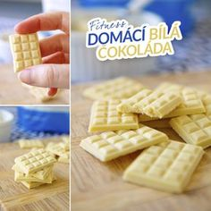 Fitness domácí bílá čokoláda bez cukru - zdravý recept Bajola Healthy Sweets, Healthy Recipes, Raw Vegan, Ham, Waffles, Food And Drink, Health Fitness, Low Carb, Bread