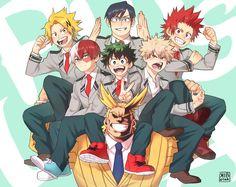 Characters: Kaminari Denki, Todoroki Shouto, Tenya Iida, Midoriya Izuku, Katsuki Bakugou, Kirishima Eijirou, All Might
