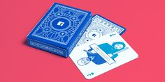 Facebook B2B marketing insights playing cards and box
