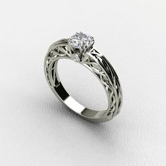 A peace of perfect art - Solitaire Diamond Engagement Ring. ***(FOR DISCOUNT USE COUPON CODE: PramodWBMKD)***