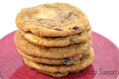Cranberry White Chocolate Chips Cookies