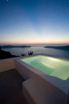 Pool view from Imerovigli, Santorini,Greece Dream Vacations, Vacation Spots, Italy Vacation, Aloita Resort, Places To Travel, Places To See, Travel Things, Travel Destinations, Santorini Grecia