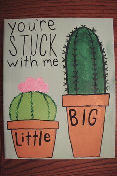 Sorority Big Little Coffee - Big Little Reveal Canvas Kappa Delta, Alpha Phi, Phi Mu, Big Little Canvas, Big Little Shirts, Small Canvas Art, Bid Day, Chi Omega, Big Little Basket