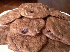 ChewyDoubleChocolateCookieswithDriedCherries