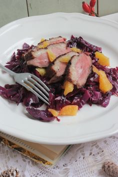 Márton-napi libamell narancsos lilakáposztával Food And Drink, Pork, Beef, Health, How To Make, Nap, Website, Kale Stir Fry, Meat