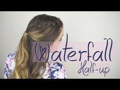Waterfall Braid   Half Up - YouTube
