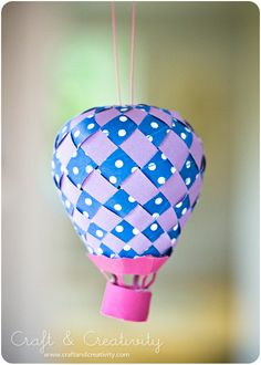 This blog show how to make Paper Hot Air Ballons So cute