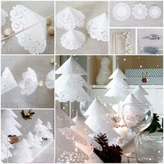 DIY Doily Paper Christmas Tree is an easy and interesting craft idea that you can try this Christmas. Make doily paper comes and fix them to a thin stick. Decorate your interiors with this super stylish DIY Christmas Tree.