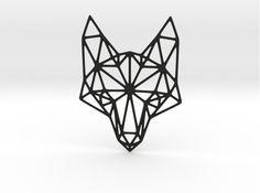 geometric fox | Geometric Fox Head Pendant 3d printed