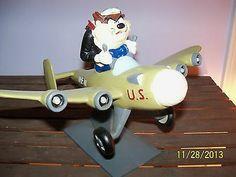 LARGE tasmanian devil pilot plane TAZ designed 4 warner bros studio store RARE