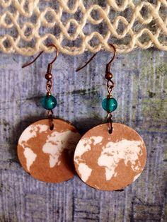 A personal favorite from my Etsy shop https://www.etsy.com/listing/269030184/up-cycled-globe-print-earrings-perfect