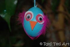 Egg Blowing Crafts: What a Hoot! Adorable Owl Easter Eggs!