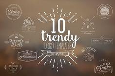 10 Trendy Logo Templates by Vector Chameleon on @creativemarket