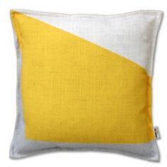 The new block designer cushion from Xavier & Me in yellow. This graphic, designer cushion features muted colours and textural design and is available in four colours, black, blue, pink and yellow. This yellow scatter cushion is a luxury cushion made from 100% Linen blend fabric and digitally printed and hand finished in Sydney, Australia. Size: 45cm x 45cm . If you would like the cushion to come with an inner, please select one of our feather inners from the drop down box.