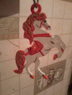 Конь на новогоднюю елку Сделано руками )