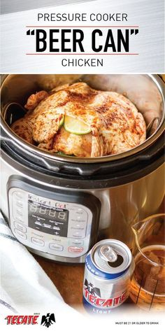 """You love pairing Tecate Light with any meal. So, to enjoy its bold flavor in a whole new way, check out this recipe for Pressure Cooker """"Beer Can"""" Chicken with Beer-Infused Gravy! With fresh citrus and a spike of Mexican beer, this quick dinner idea is sure to turn the chilly winter weather into a thing of the past. Call over your friends and enjoy this easy twist on a classic tonight."""