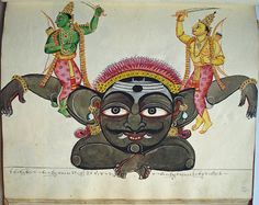 Thing  MADE OF paper TYPE OF THING album, painting EXHIBITION HISTORY Exhibited: See 1962,1231.0.13.1 SCHOOL Company School SUBJECT hindu deity, devil/demon, hinduism, religious text/epic TECHNIQUES painted People  ACQUIRED FROM British Library to The British Museum, Rodd, Thomas to The British Museum DEPICTED Kabandha, Rāma, Lakṣmaṇa Place  FOUND IN India PAINTED IN Thanjavur Time  ACQUIRED IN 1962 MADE 1830, circa