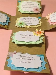 El Rincón de Mara: RETO SCRAPERO: 512 Ideas Cross Crafts, Easter Crafts, Easter Ideas, Place Cards, Place Card Holders, Frame, Diy, Ideas Para, Craft Ideas