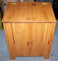 These Free DIY Woodworking Plans are for a Solid Wood Clothes Hamper