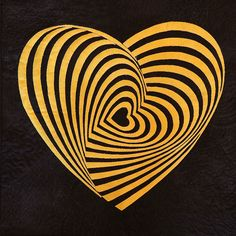 "Hypnotic Love,  16 x 16"", by María González Rico (Spain). THIRD PLACE, 2016 Quilt Alliance contest: ""I love to use optical effects to cause an unexpected feeling of movement..."""