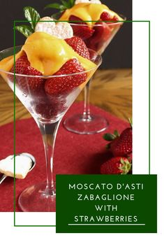 Zabaglione, an Italian Moscato custard served warm & spooned over fresh strawberries, creating a simple but elegant, summer dessert Italian Foods, Italian Recipes, Delicious Desserts, Dessert Recipes, Good Food, Yummy Food, Food Heaven, Summer Desserts, Desert Recipes