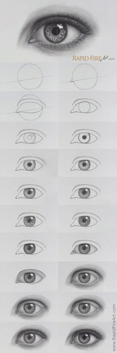 How to draw realistic EYES - Zeichnung bleistift - Art Sketches Cool Art Drawings, Pencil Art Drawings, Art Drawings Sketches, Easy Drawings, Sketches Of Eyes, Easy Realistic Drawings, Drawing Designs, Eye Drawing Tutorials, Watercolour Tutorials