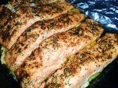 Grilovaný losos v alobale