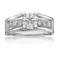 Canadian Ice Diamond Engagement Ring 1+ct. t.w. in 14k White Gold