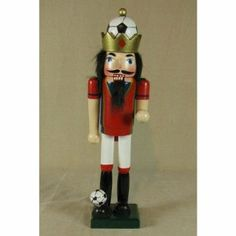 Soccer Nutcracker by Horizons East. $25.55. Satisfaction Ensured.. Uniquely designed products to enhance your Christmas!. Great Gift Idea.. Manufactured to the Highest Quality Available.. 11109 Uniquely designed products to enhance your Christmas! Features: -Material: Painted wood.