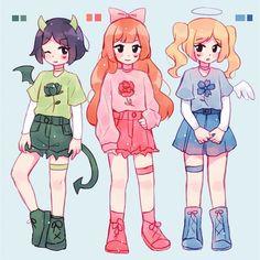Arte Do Kawaii, Kawaii Art, Cute Art Styles, Cartoon Art Styles, Cartoon Kunst, Cartoon Drawings, Cartoon Girl Drawing, Mode Outfits, Anime Outfits