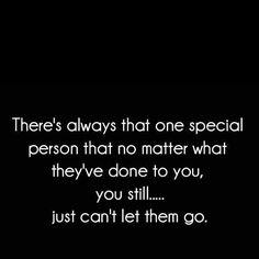 But if it's hurts to hold on, do you try to let go ... ?