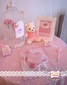 Ballerina Teddy Bear Birthday Party!  See more party ideas at CatchMyParty.com!