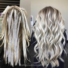 "Balayage❄️Blonde | Detroit (@catherinelovescolor) on Instagram: ""✨Balayage application and finished✨ This after shot is what got nominated in @behindthechair_com…"""