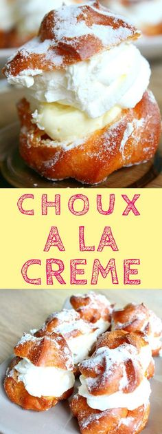 FRENCH CREAM PUFFS RECIPE - These easy CHOUX A LA CREME are sure to wow your guests at any party! Delicate and airy, these delicious desserts are the perfect way to indulge! #creampuffs #frenchcreampuffs #chouxalacreme #desserts