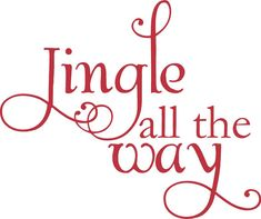 Jingle All The Way Christmas Decoration Vinyl Wall by astickyplace, $25.00
