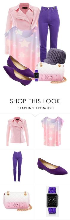"""""""In the Mix"""" by ljbminime ❤ liked on Polyvore featuring moda, Versace Jeans Couture, Trotters, Moschino, Casetify, Smartwool, women's clothing, women's fashion, women e female"""