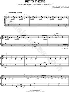 Rey's Theme sheet music from Star Wars Episode VII: The Force Awakens