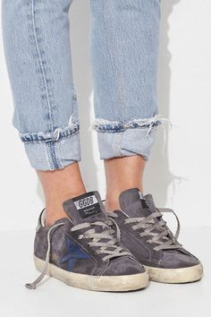 Charcoal and Navy Superstar Sneaker by Golden Goose
